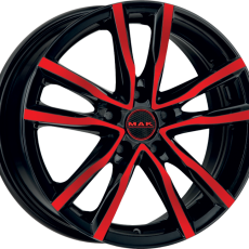 MAK MILANO BLACK AND RED 6.5x16 5x114.3 ET35